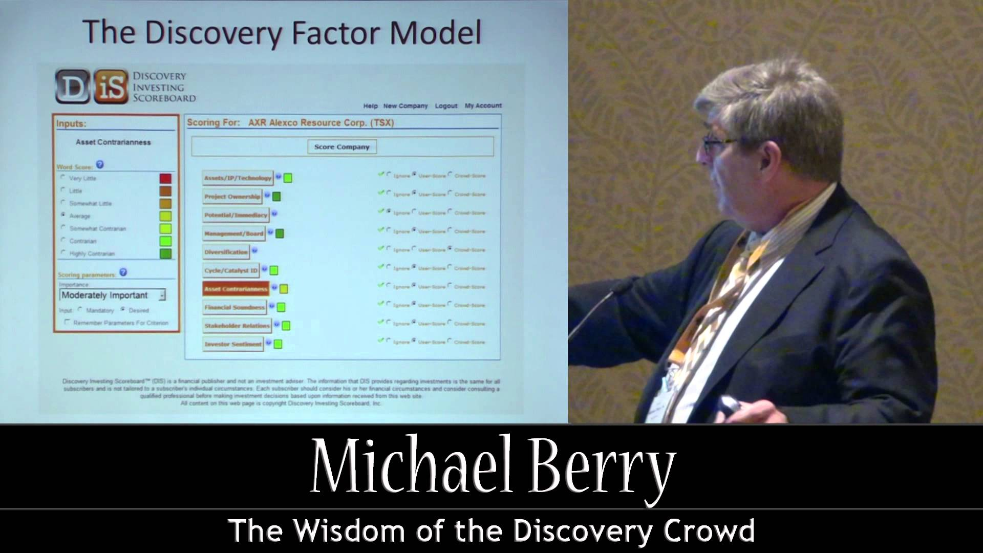 The Wisdom of the Discovery Crowd: Presentation by Michael Berry