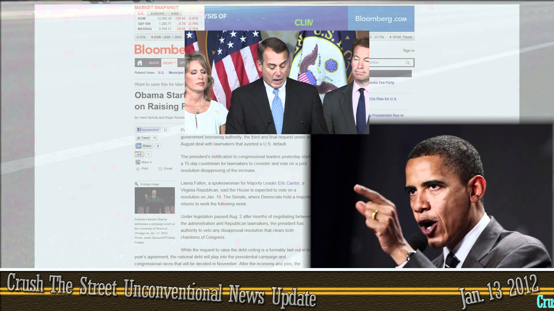 Unconventional News Update for January 13, 2012