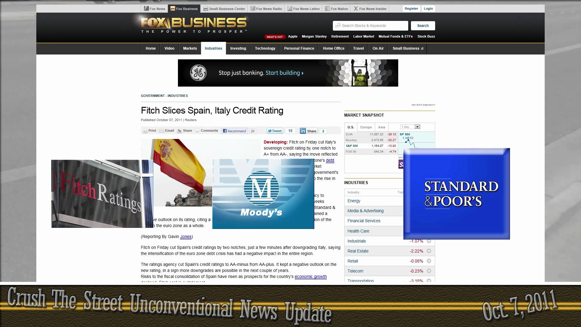 Unconventional News Update for October 7, 2011