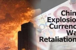 China Explosion Curreny War Retaliation