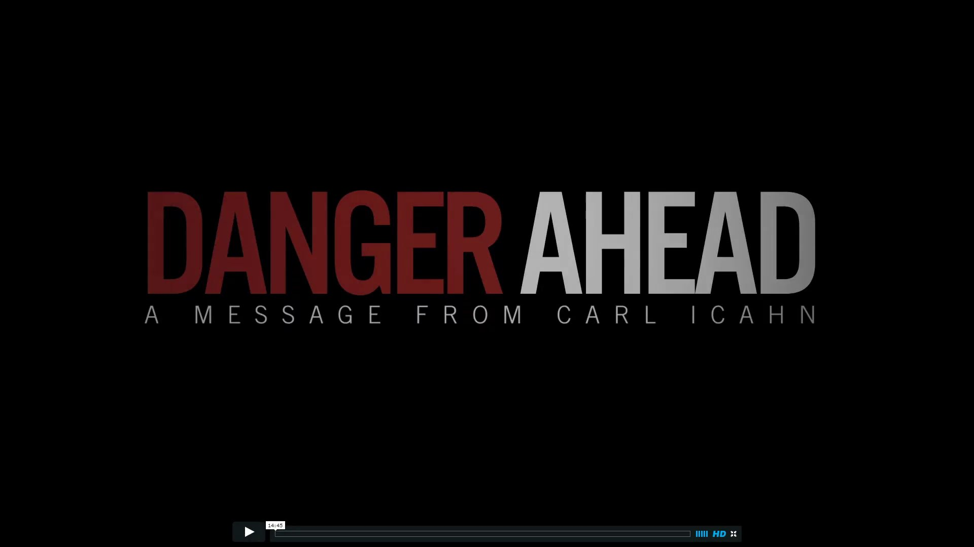 Stock Market Crash Coming Says Billionaire: Danger Ahead – A Message from Carl Ichan