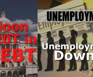 Unemployment Number BS from BLS, National Debt $19 Trillion Lie