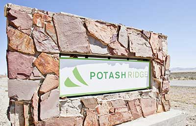Potash Ridge Logo Sign Board