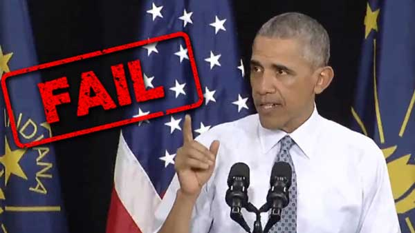 Obama Economic Recovery Speech FAIL