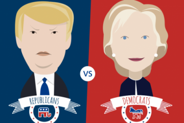 Donald-Trump-Hillary-Clinton-Debate-Photo-by-VectorOpenStock-460x363