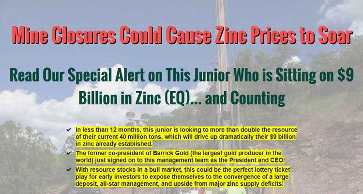 Mine Closures Could Cause Zinc Prices to Soar