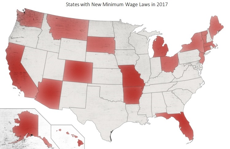 Minimum wage, state unemployment