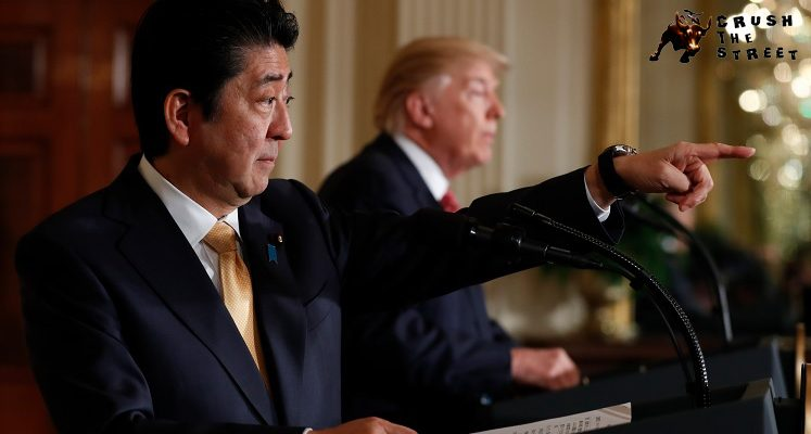 Shinzo Abe, Donald Trump