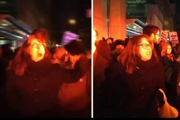However, one NYU professor wasn't at all happy with the police officers there to keep the peace. The video below shows her having an epic and incoherent meltdown.