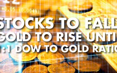 Stocks to Fall, Gold to Rise Until 1:1 Dow to Gold Ratio - Philip Kennedy