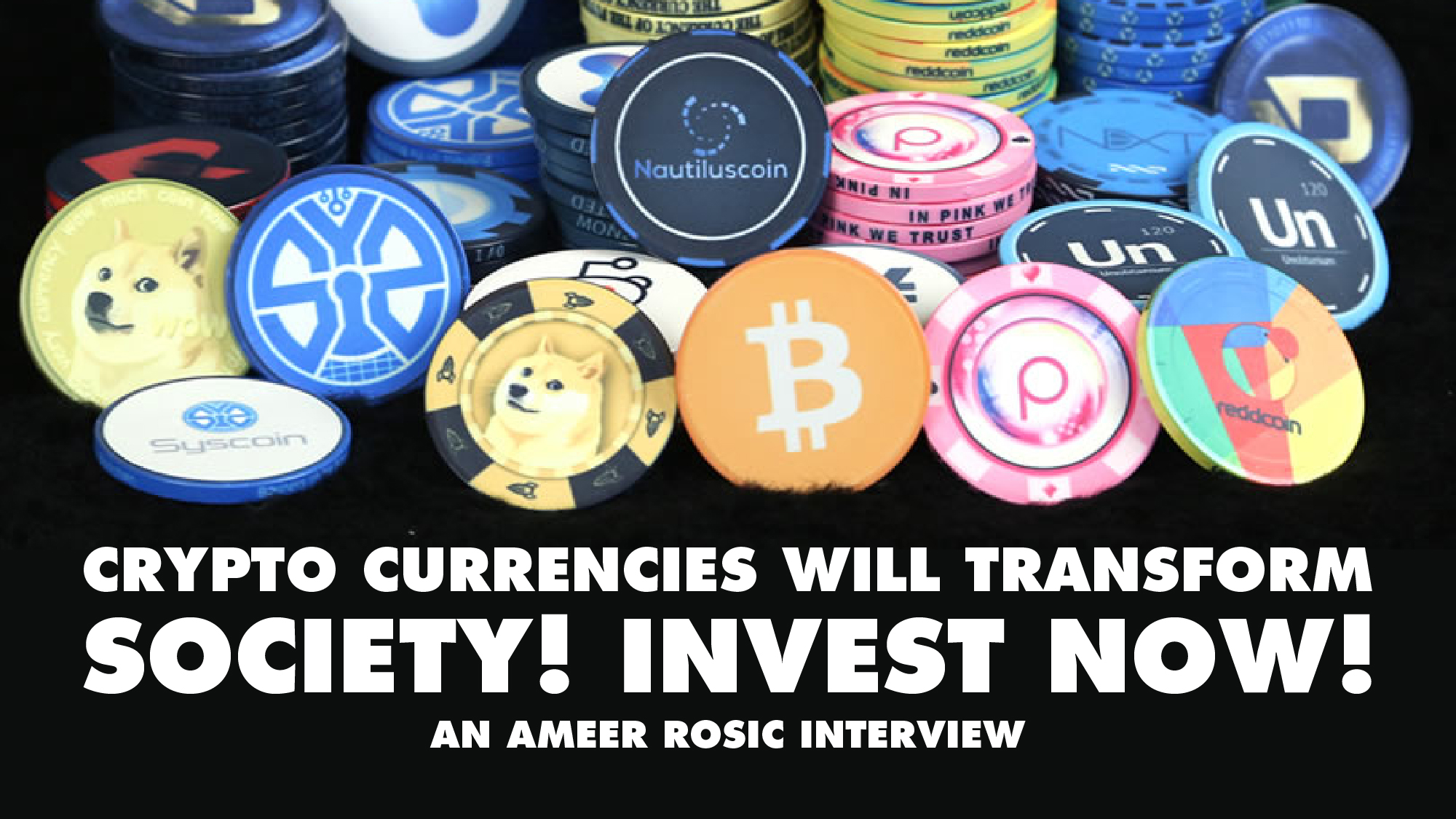 Crypto Currencies Will transform Society! Invest Now! – Ameer Rosic Interview