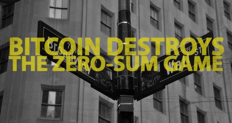 bitcoin, zero-sum game