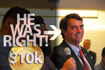 Tim Draper was right 3 years ago with his $10,000 bitcoin prediction