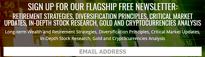 Crush The Street - Sign Up for our Flagship FREE Newsletter: Retirement Strategies, Diversification Principles, Critical Market Updates, In-Depth Stock Research, Gold and Cryptocurrencies Analysis