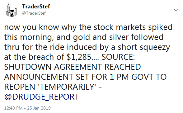 TraderStef Twitter Government Shutdown Deal Announcement