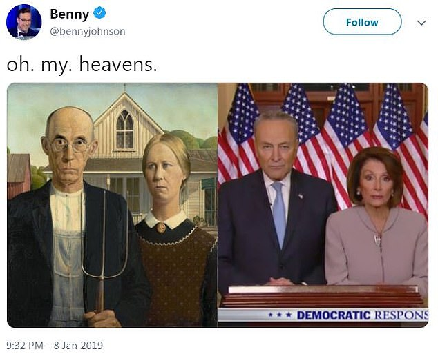 Pelosi Schumer American Gothic