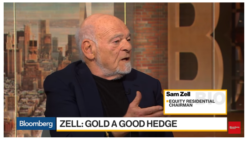 Sam Zell Buys Gold