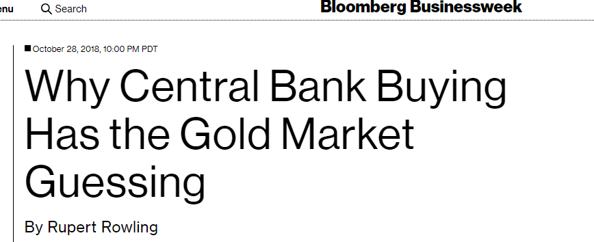 Central Banks Buying Most Gold Since 1971?