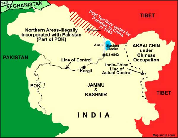 Map of Kashmir and Jammu