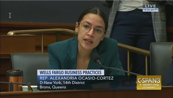 "Beyond Bizarre: Ocasio-Cortez Asks Wells Fargo CEO Why the Bank Is ""Financing the Caging of Children"""