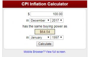 Inflation with Compound Interest will get you