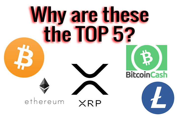 The Top 5 Cryptocurrencies and Why