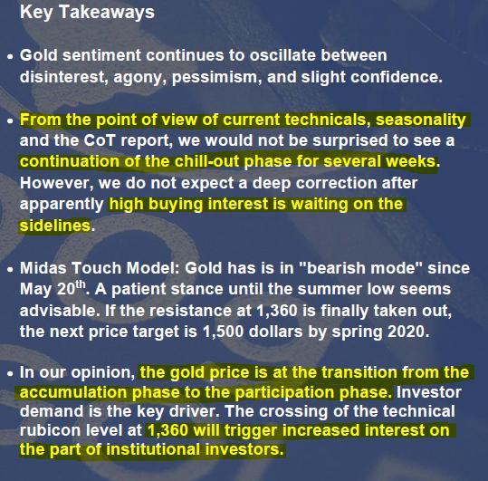 In Gold We Trust Key Takeaways