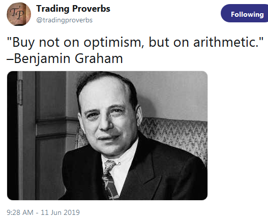 Benjamin Graham: Buy on Arithmetic