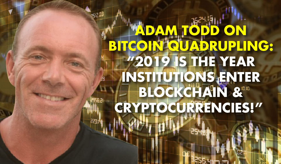 """Adam Todd On Bitcoin Quadrupling: """"2019 Is The Year Institutions Enter Blockchain & Cryptocurrencies!"""""""