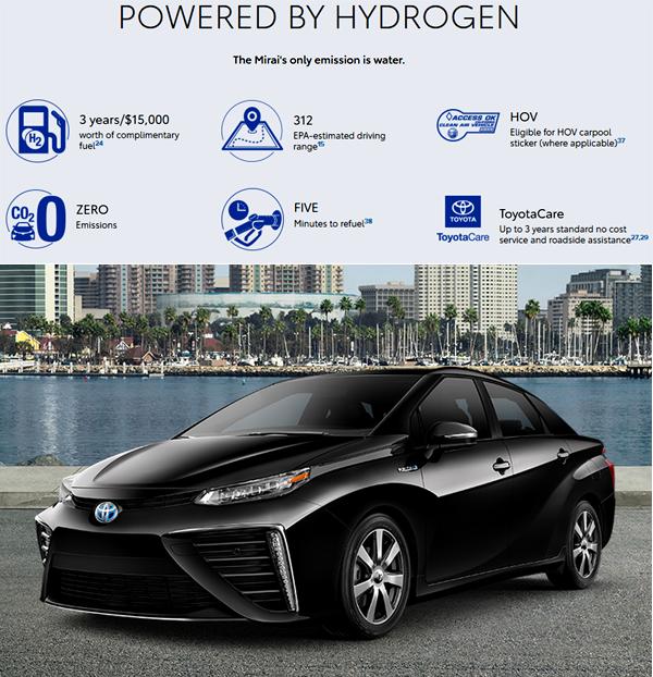 2019 Toyota Mirai Hydrogen EV