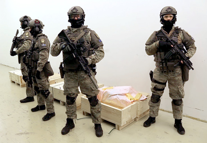 Troops Guarding Central Bank of Hungarys Gold Repatriated from London in 2018