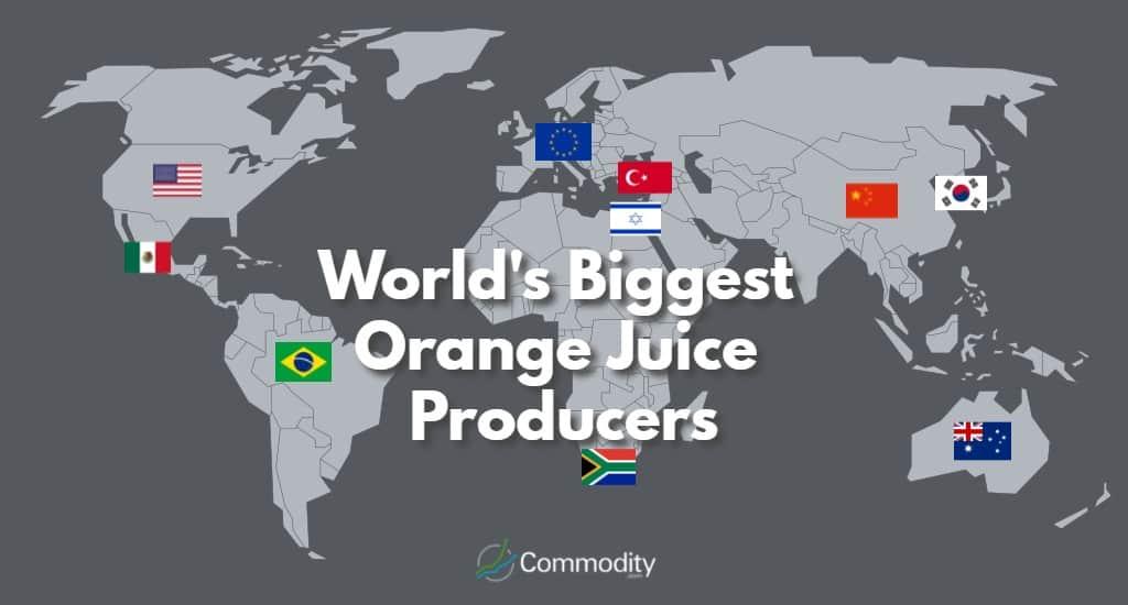 Global Map of Largest Orange Juice Producers