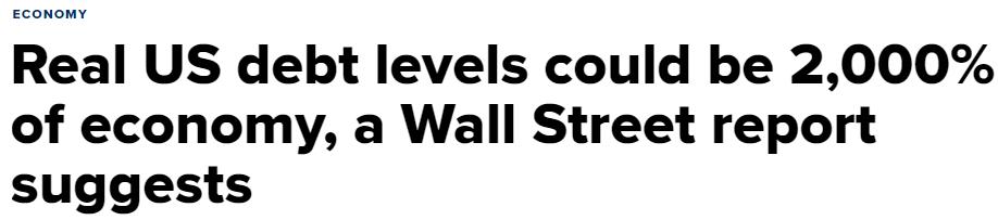 Debt Levels At Unthinkable Levels