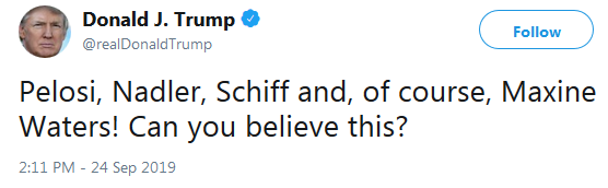 POTUS on Twitter Impeachment Can You Believe This