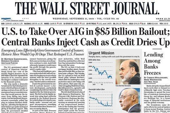 WSJ Cover September 2008