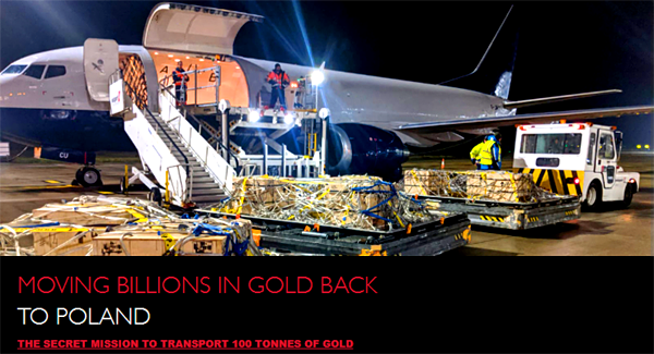 GS4i Secret Gold Shipment to Poland