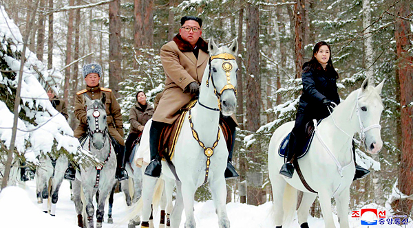 Kim Jong-un Riding White Horses
