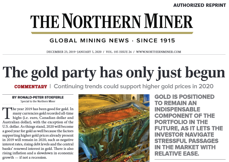 The Northern Miner - The Gold Party Has Just Begun
