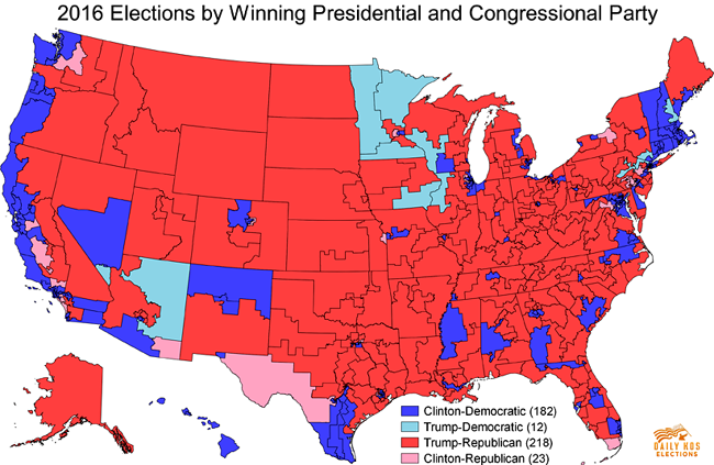 2016 US Presidential Election Map Trump vs Clinton