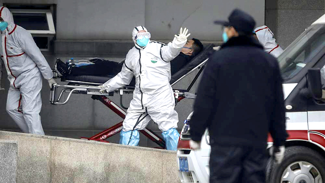 China Health Care Workers in Hazmat Suits for Coronavirus