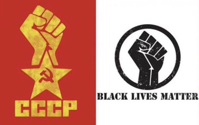 CCCP and BLM Fist