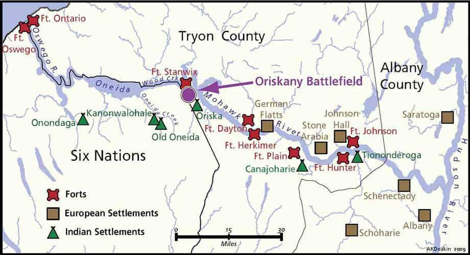 Oriskany Battlefield Map