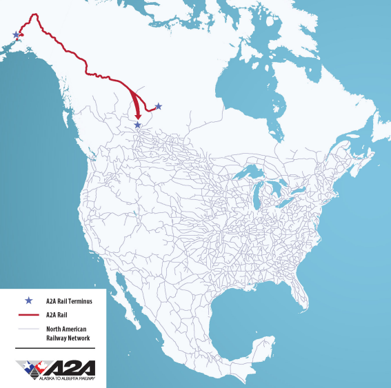 A2A Railway Connects to NA USA Rail Network