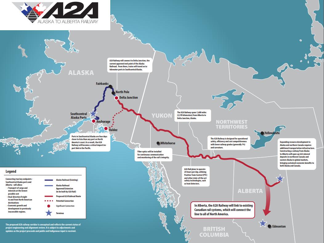 A2A Railway Map