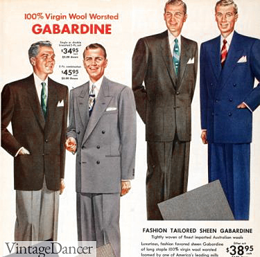 1953 Virgin Wool Men's Suit Adverisement